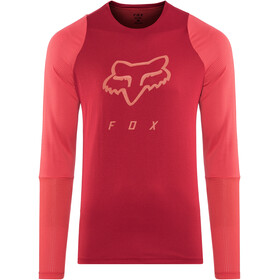 Fox Defend Foxhead Bike Jersey Longsleeve Men red
